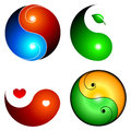 Yin yang icons Royalty Free Stock Photo