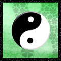 Yin yang illustration of symbol Stock Photography