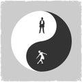Yin Yang-Male and Female symbol Royalty Free Stock Photo