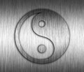 Yin yang metal background it is very beautiful Stock Images