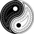 The yin-yang paisley style Royalty Free Stock Photos