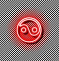 Yin yang red neon sign Royalty Free Stock Photo