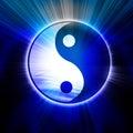 Yin Yang sign Stock Photo