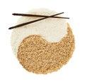 Yin yang sign made of rice Royalty Free Stock Photo