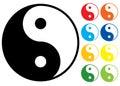 Yin and Yang symbol. Royalty Free Stock Photo