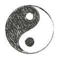 Yin yang a symbol of balance black and white chinese believe Stock Images