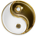 Yin yang symbol isolated on white background Royalty Free Stock Photo