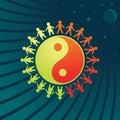Yin-Yang symbol - men and women Royalty Free Stock Photo
