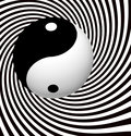 Yin yang symbol spiral with Royalty Free Stock Image