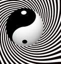 Yin yang symbol spiral Royalty-vrije Stock Afbeelding