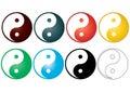 Yin yang - vector Stock Image