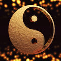 Ying yang digital illustration of Royalty Free Stock Image