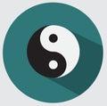 Ying yang icon flat design Stock Photos