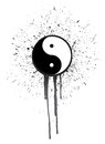 Ying yang ink illustration design over a white background Stock Photos