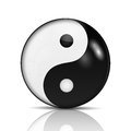 Ying yang symbol of harmony and balance Royalty Free Stock Photos