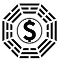 Ying yang symbol of harmony and balance in money