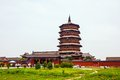 Yingxian wonderful pagoda it was built at ad it is the oldest and highest whole wooden built in pavilion style in the world Royalty Free Stock Photos