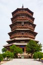 Yingxian wonderful pagoda it was built at ad it is the oldest and highest whole wooden built in pavilion style in the world Royalty Free Stock Images