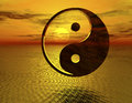 Yingyang digital rendering of the ying and yang symbol Royalty Free Stock Photos