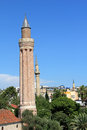 Yivli minare minaret kaleici old town in antalya turkey Stock Photography