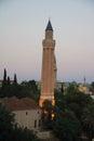 Yivli minaret mosque in Antalya, Turkey Royalty Free Stock Photo