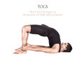 Yoga ardha chakrasana pose Stock Photo
