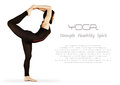 Yoga background with flexible girl Royalty Free Stock Photos