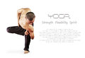 Yoga background with man Royalty Free Stock Photography