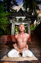 Yoga baddha padmasana Royalty Free Stock Images