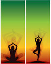 Yoga bookmarks Royalty Free Stock Photo