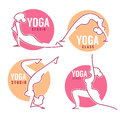 Yoga Class, Women Poses For Your Logo