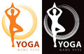 Yoga company logo icon colour black white Royalty Free Stock Image