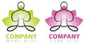 Yoga company logo icon colour black white Stock Image