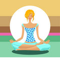 Yoga concept vector Royalty Free Stock Photos