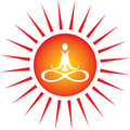 Yoga energy icon Stock Photography