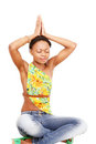 Yoga exercise girl Stock Images