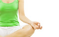 Yoga Hand, Woman Meditation Sitting in Lotus Pose Royalty Free Stock Photo
