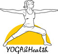 Yoga and health. Icon for design