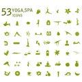 Yoga icons, massage, spa icons.