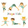 Yoga kids an illustration of cute Stock Photo