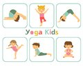 Yoga kids an illustration of little doing Stock Photos