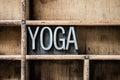 Yoga Letterpress Type in Drawer