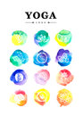Yoga logo collection Royalty Free Stock Photo