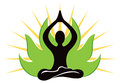 Yoga logo a company icon graphic Stock Photography