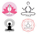 Yoga logo ideas Royalty Free Stock Photo