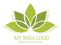 Yoga lotus icon Royalty Free Stock Photo