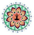 Yoga lotus posture Royalty Free Stock Images