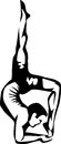 Yoga man practicing scorpion pose Stock Image