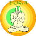 Yoga meditation asana Stockbild