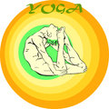 Yoga meditation asana hand drawn illustration about the handsome yogi playing asanas positions Stock Photo